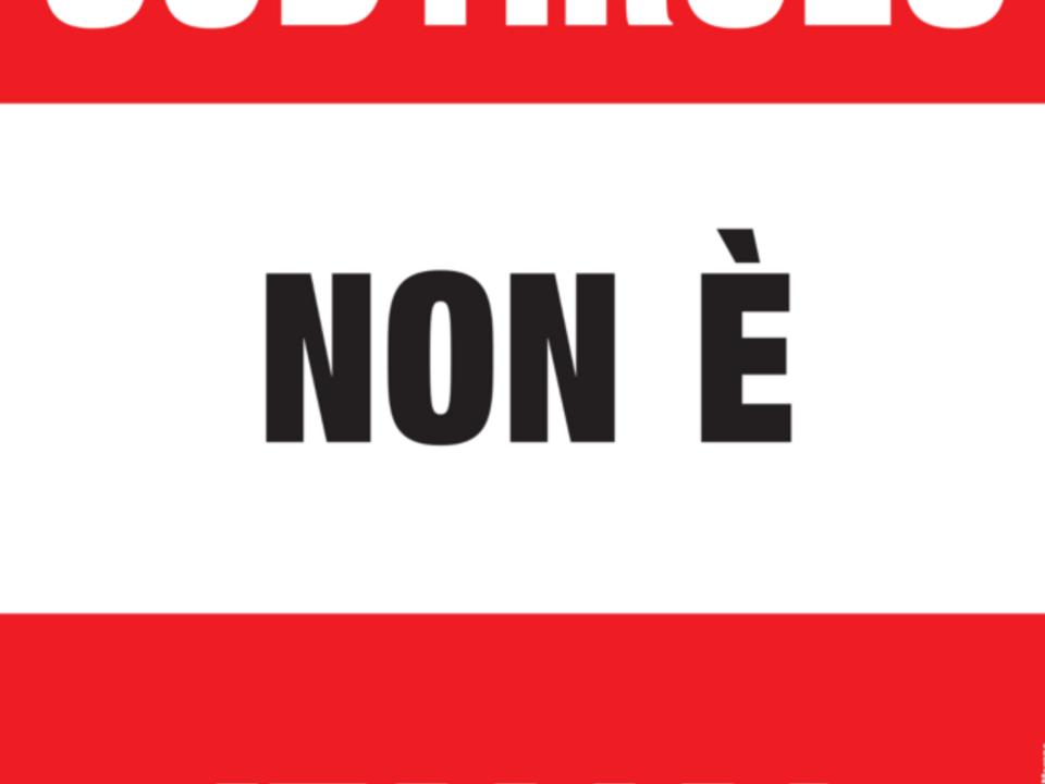 roland lang, plakat shb südtirol ist nicht italien