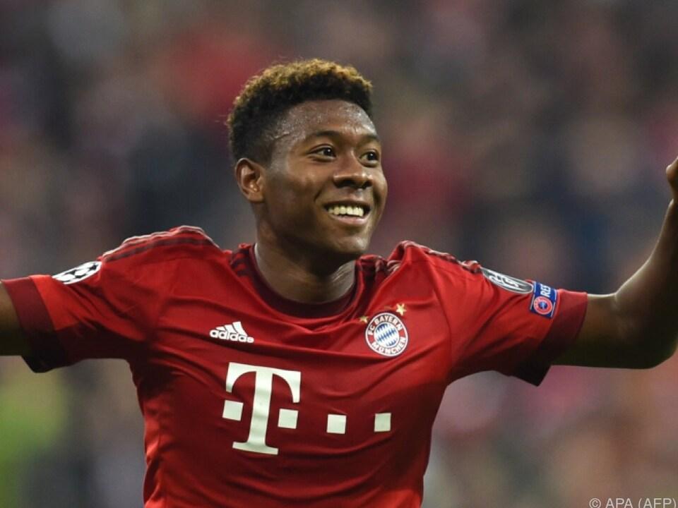 David Alaba hat mit den Bayern das Triple im Visier