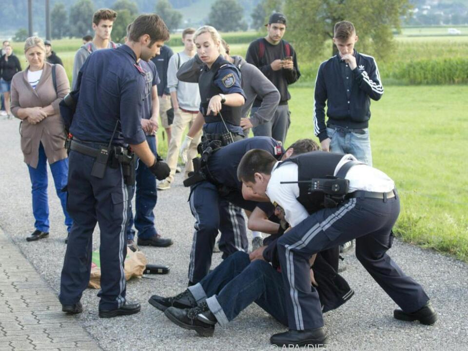 Der Aggressor konnte von der Polizei überwältigt werden