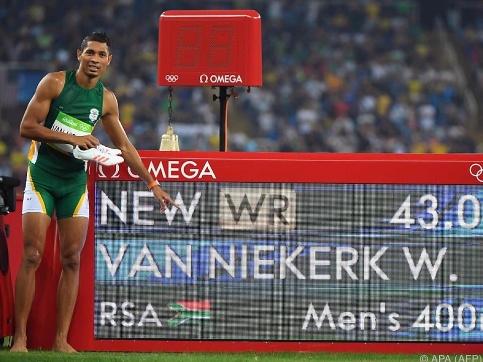 Der Südafrikaner setzte einen neuen Maßstab über 400 m