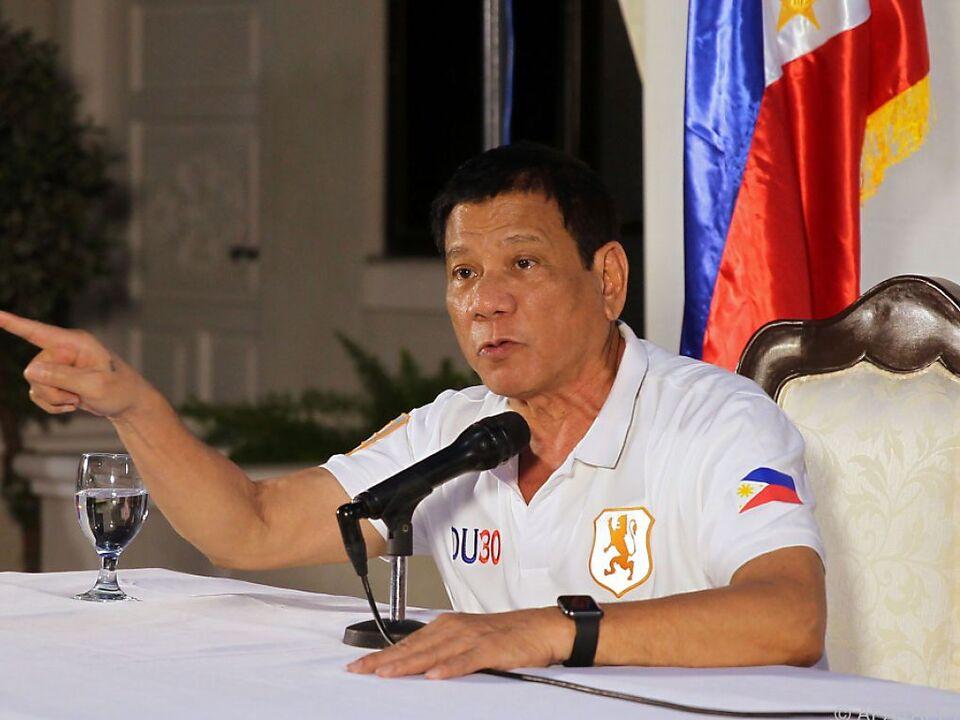 Duterte kennt kein Pardon