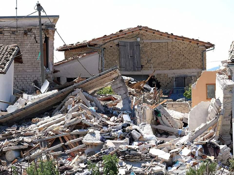Erdbeben zerstörte das ganze Dorf