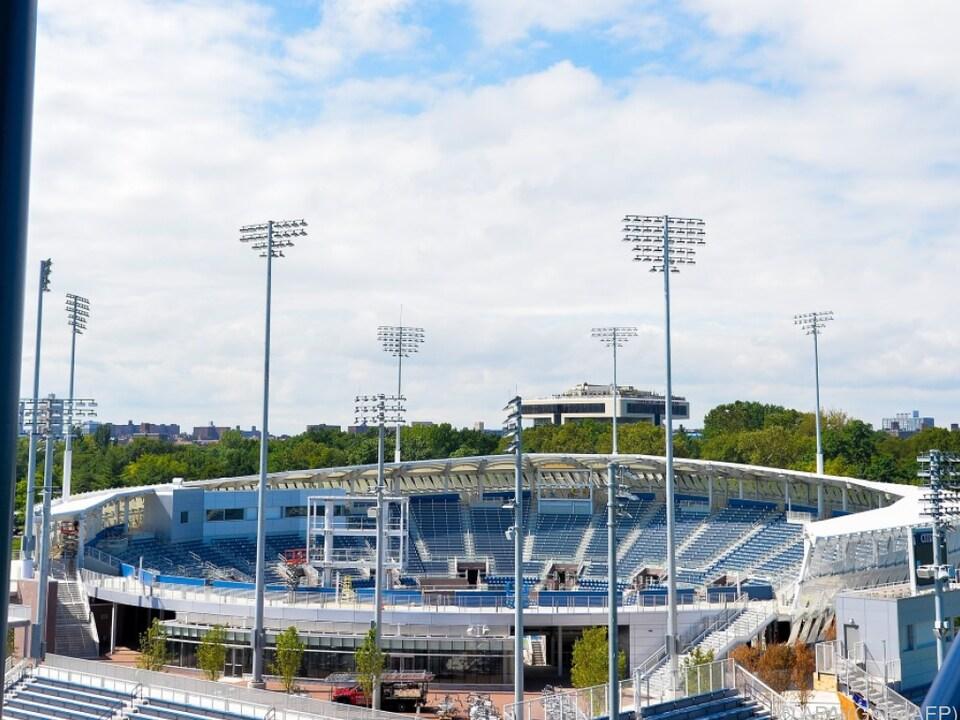 Im neuen Stadion der US Open wird erstmals gespielt