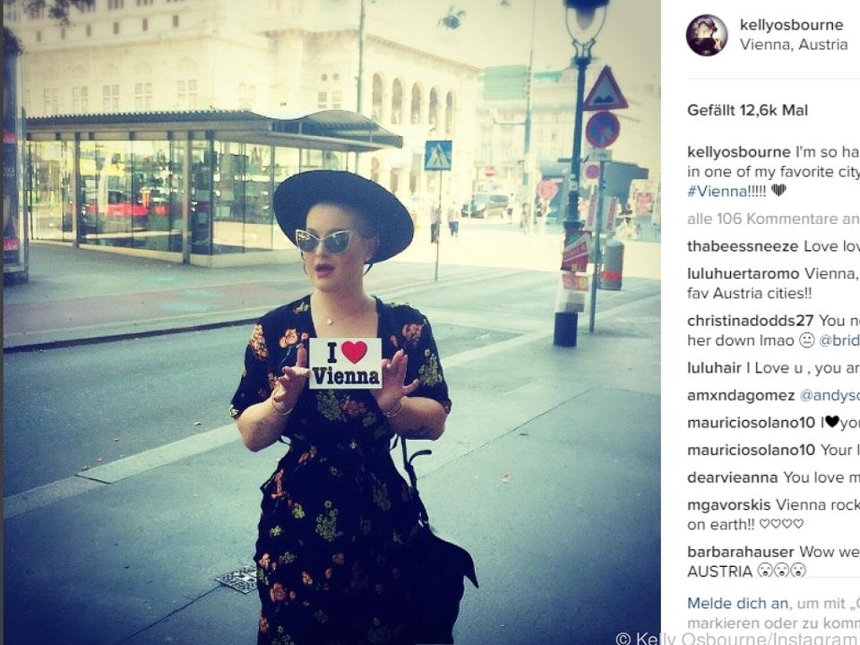 Kelly Osbourne ist begeistert von Wien