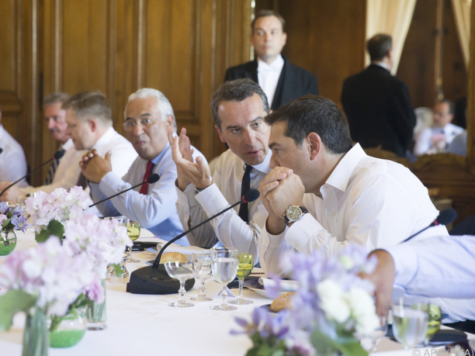 Kern im Gespräch mit dem griechischen Premier Tsipras