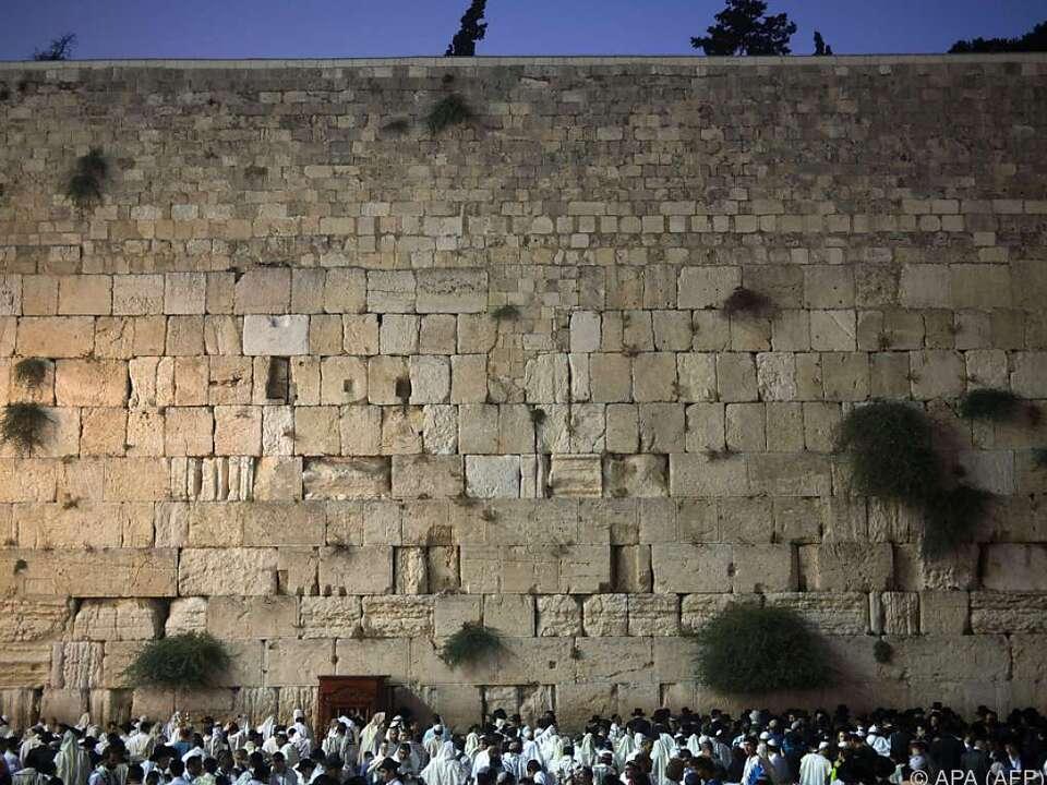 Klagemauer im Herzen von Jerusalem
