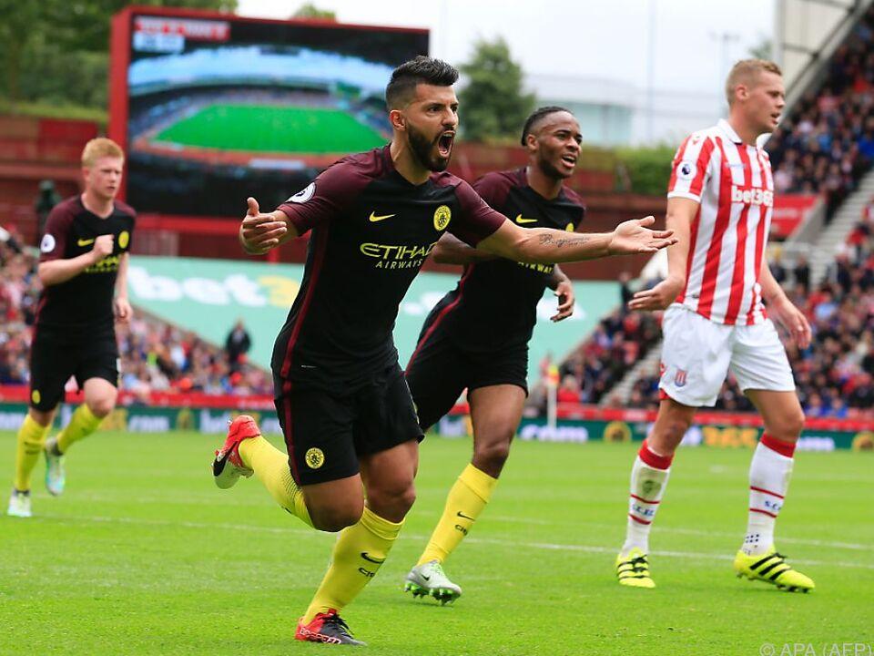 Manchester City behielt gegen Stoke die Oberhand