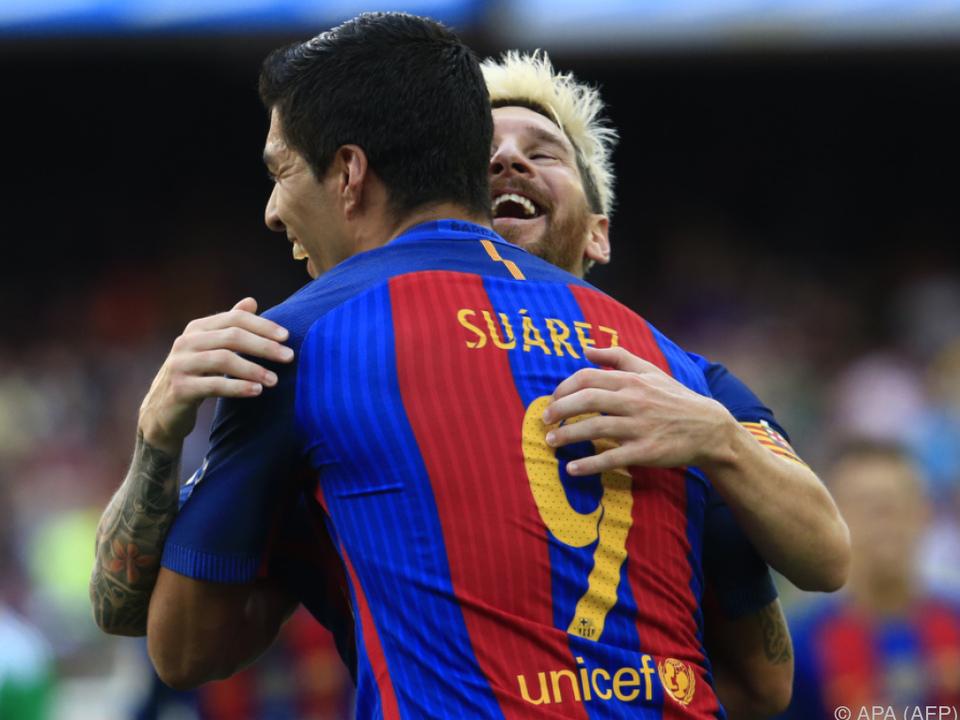 Messi und Suarez erzielten zusammen fünf Tore