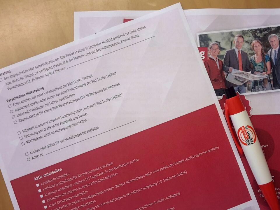 Mitgliederbefragung STF Süd-Tiroler Freiheit