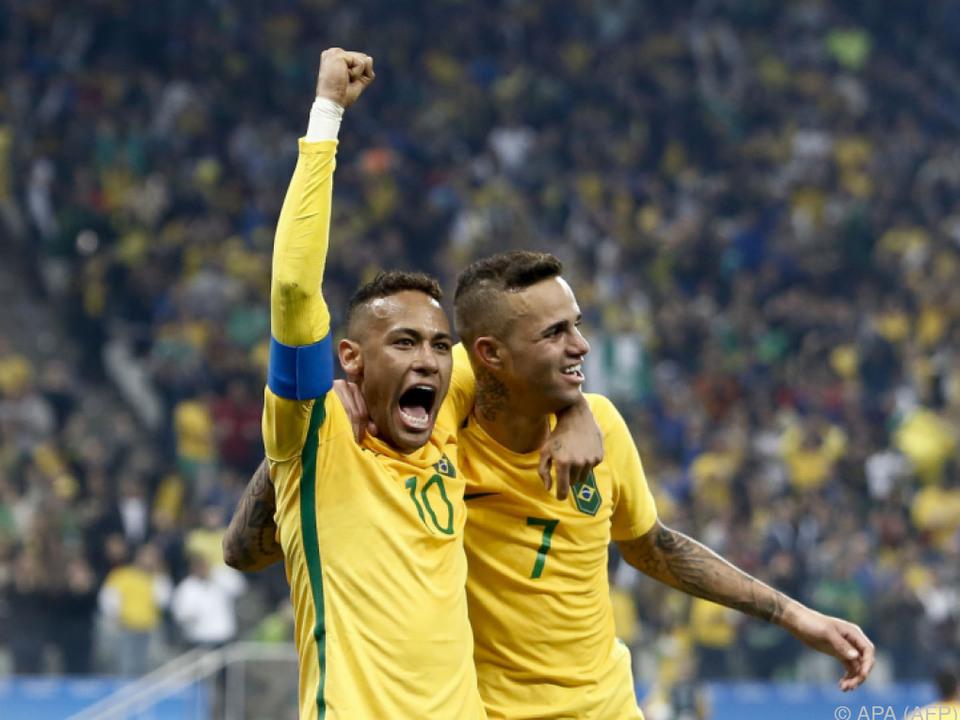 Neymar und Sturmkollege Luan: Großer Druck auf Brasiliens Jungstars