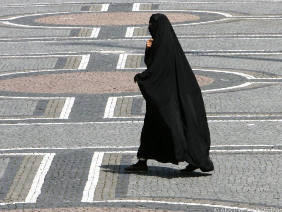 burka-islam-Noch ein eher seltener Anblick hierzulande