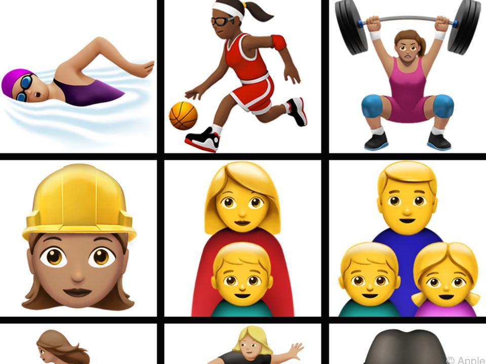 Nun gibt es auch Bauarbeiterinnen, Gewichtheberinnen und Surferinnen