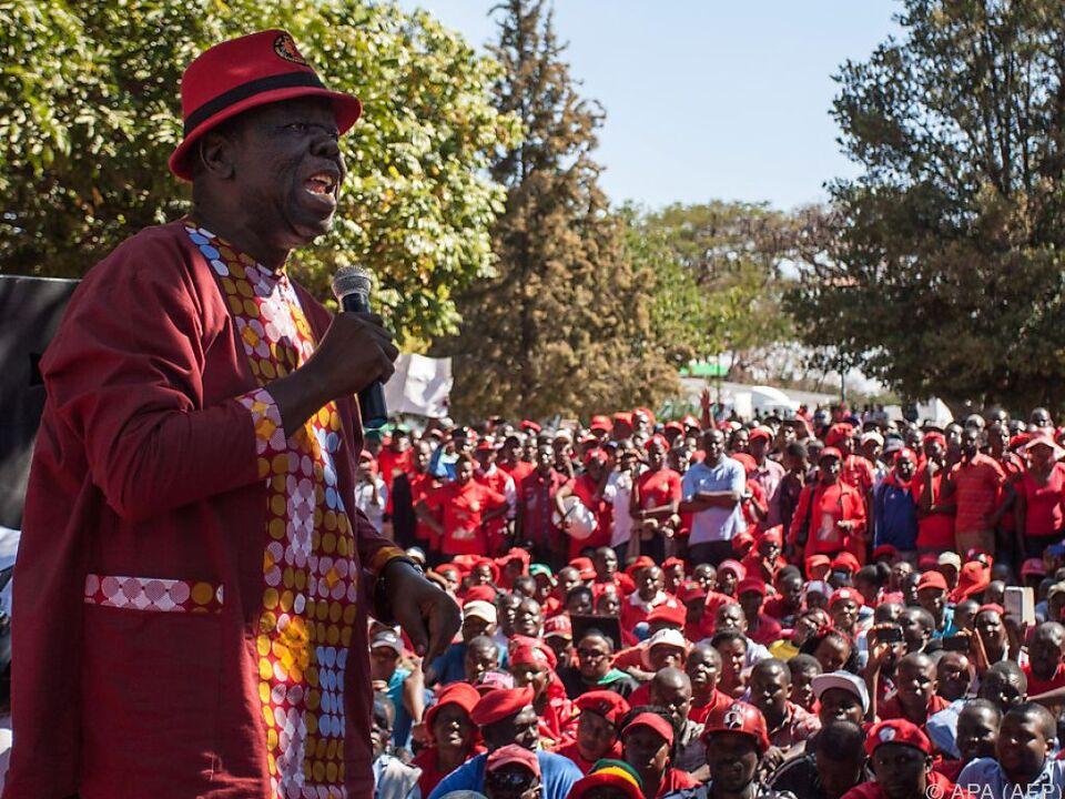 Oppositionsführer Tsvangirai rief zu der Kundgebung auf