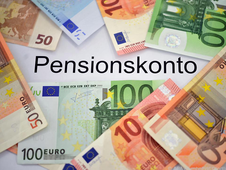 rente geld Pensionskonten sind gut gefüllt