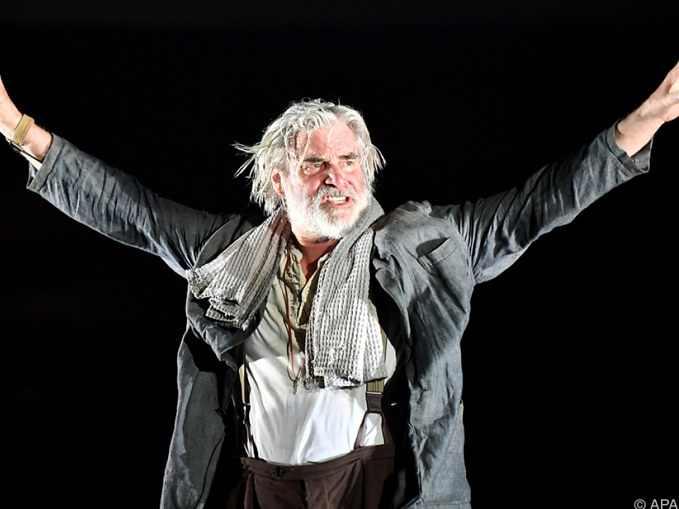Peter Simonischek in Salzburg als Prospero in Shakespeares \