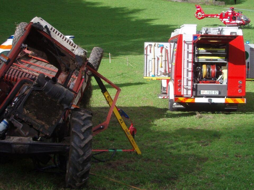 Traktorunfall Luttach