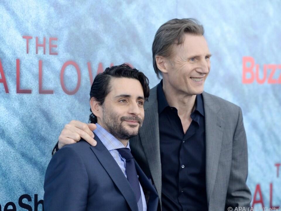 Regisseur Collet-Serra und Neeson bei der Premiere von \