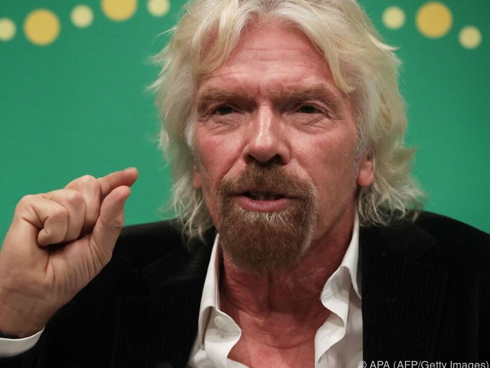 Richard Branson im Pech