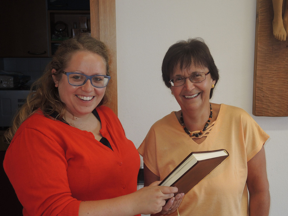Sigrid Prader mit Filippa Schatzer