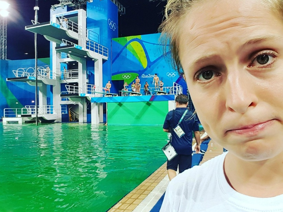 Tania Cagnotto Twitter Grünes Schwimmbecken 2