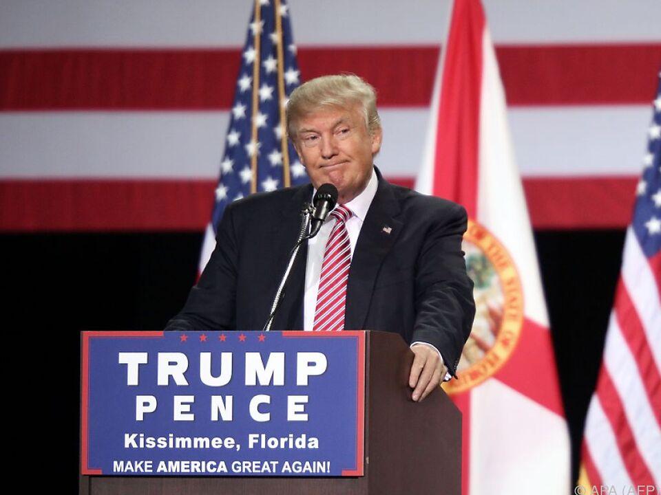 Trumps wohlwollende Äußerungen zu Russland seit Wochen ein Thema