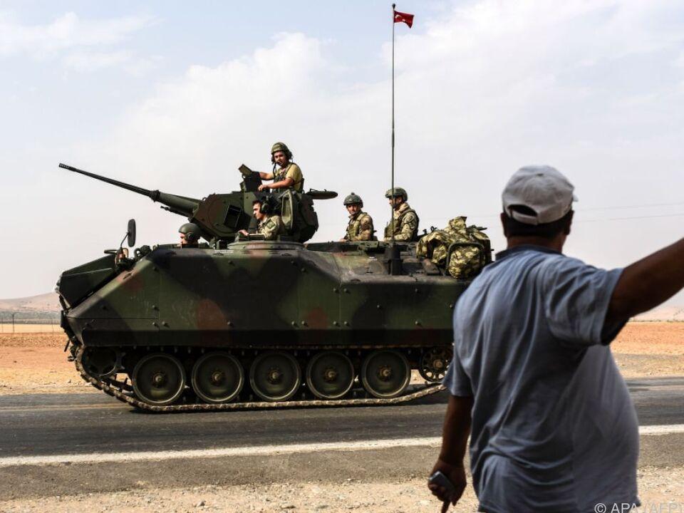 Türkische Soldaten in Syrien im Einsatz