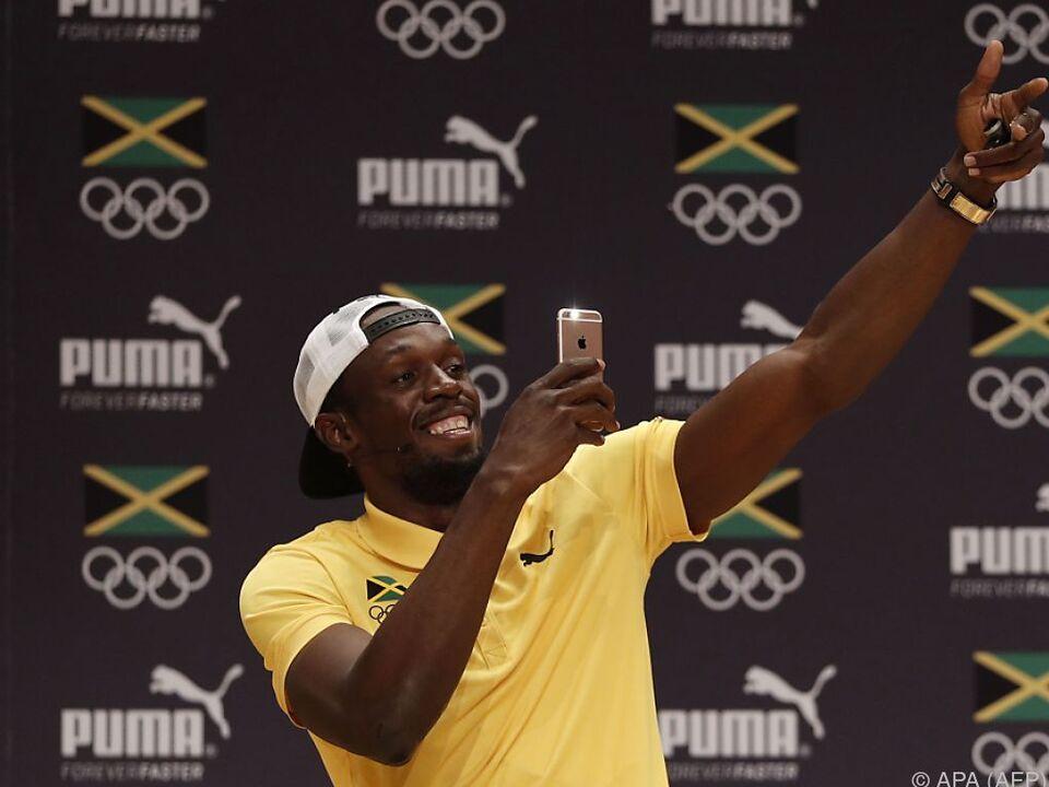 Usain Bolt greift wieder einmal nach den Sternen