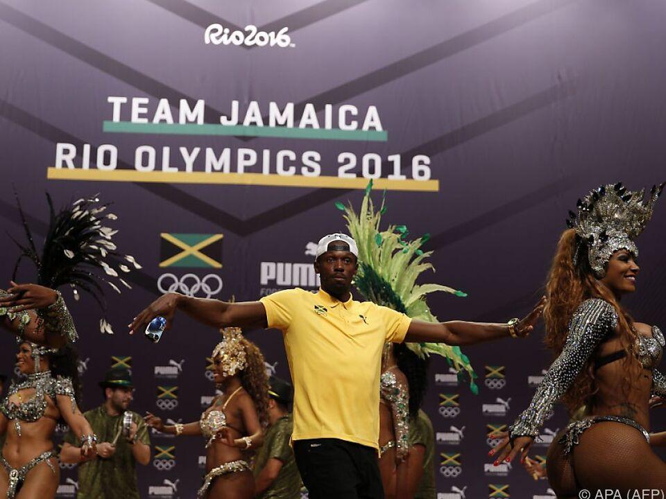 Usain Bolt macht gute Stimmung