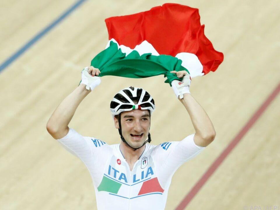 Viviani holte die erste Bahn-Medaille für Italiens Herren seit 16 Jahren
