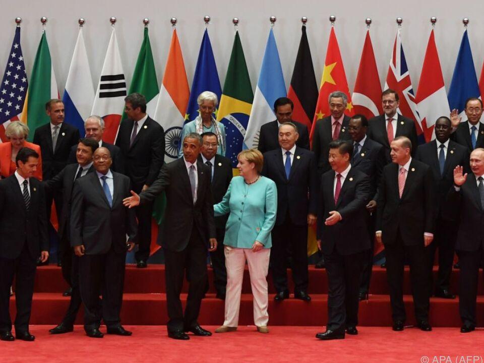 Abschluss des Treffens in China
