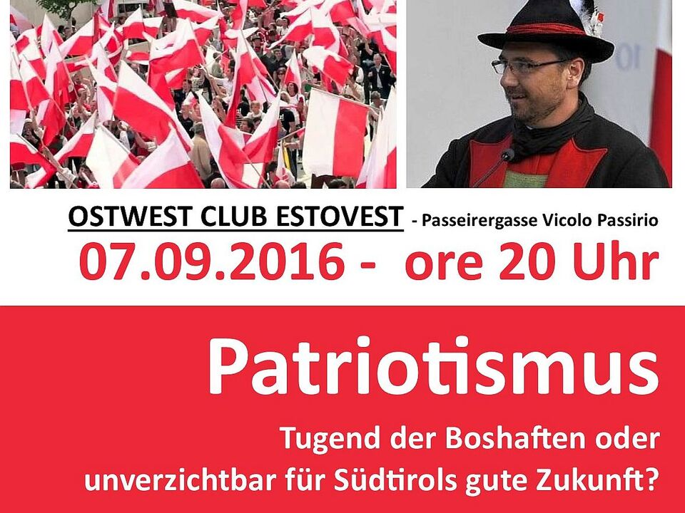 Ankündigung Patriotismus Ost West Club