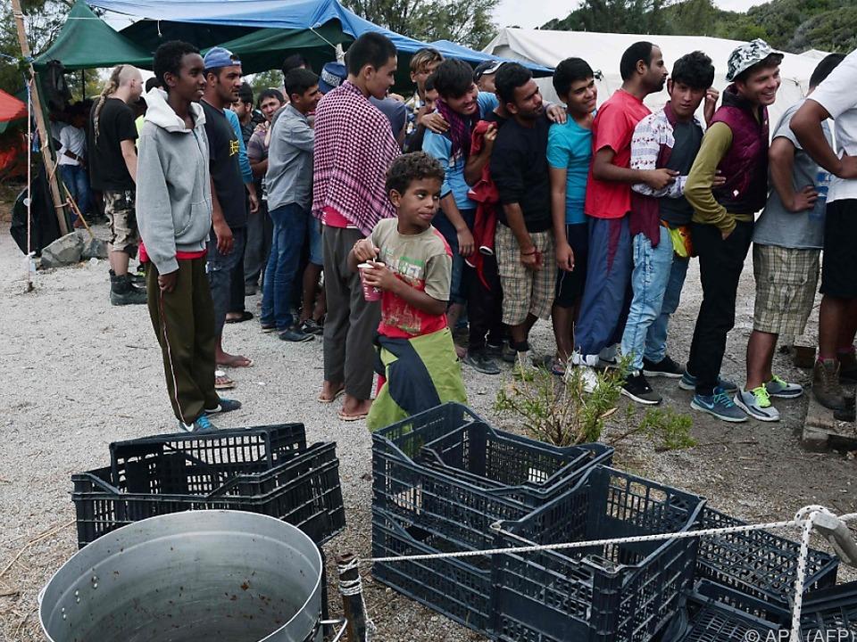 Aufnahmekapazität auf Lesbos erschöpft