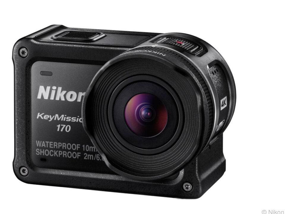 Die Nikon KeyMission 170 bleibt bis in zehn Meter Wassertiefe dicht