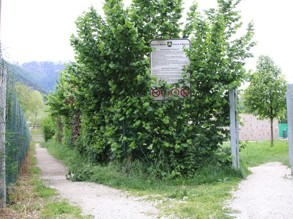 Kinderspielplatz in Kompatsch in der Gemeinde Naturns