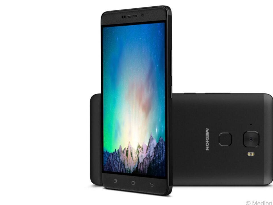 Das LTE-Smartphone X5520 von Medion hat einen Fingerabdrucksensor