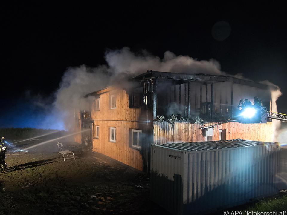 Das Flüchtlinsheim war am 1. Juni in Flammen aufgegangen