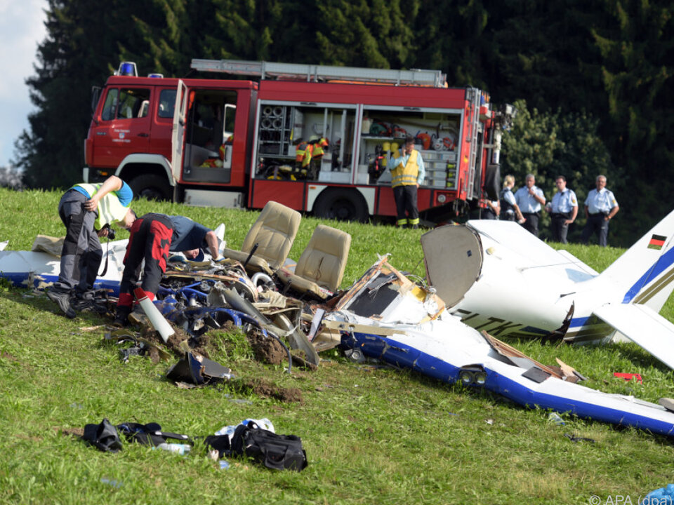 Das Flugzeug stürzte nahe Leutkirch ab
