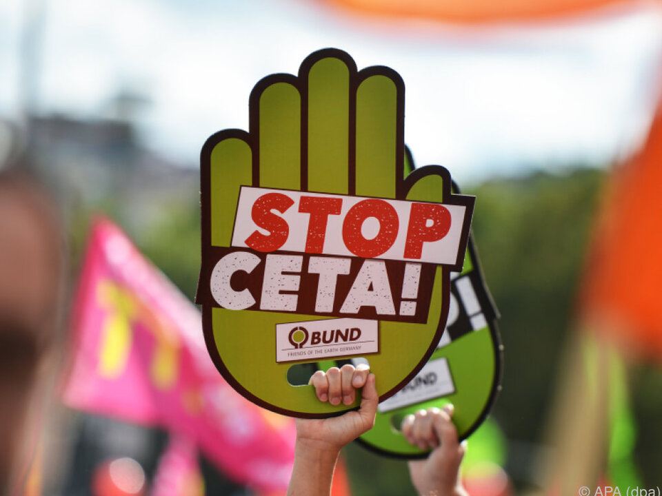 Das Handelsabkommen CETA hat viele Gegner