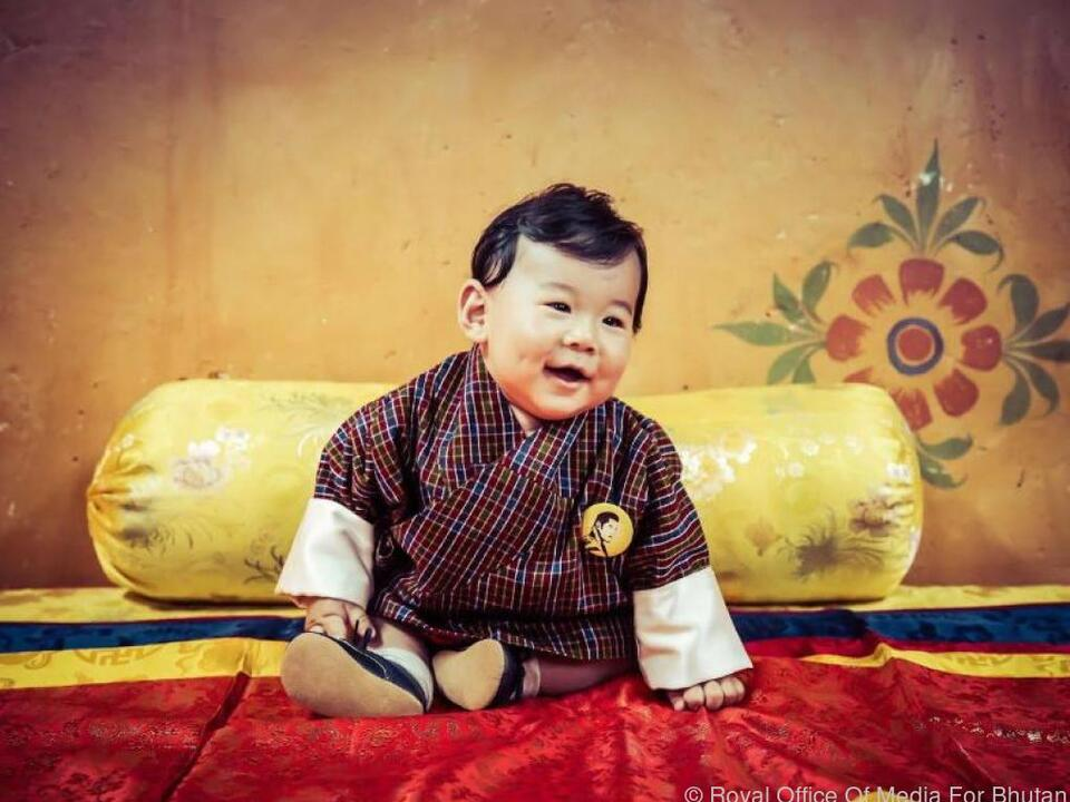 Der kleine Drachenprinz Jigme N. Wangchuck aus Bhutan