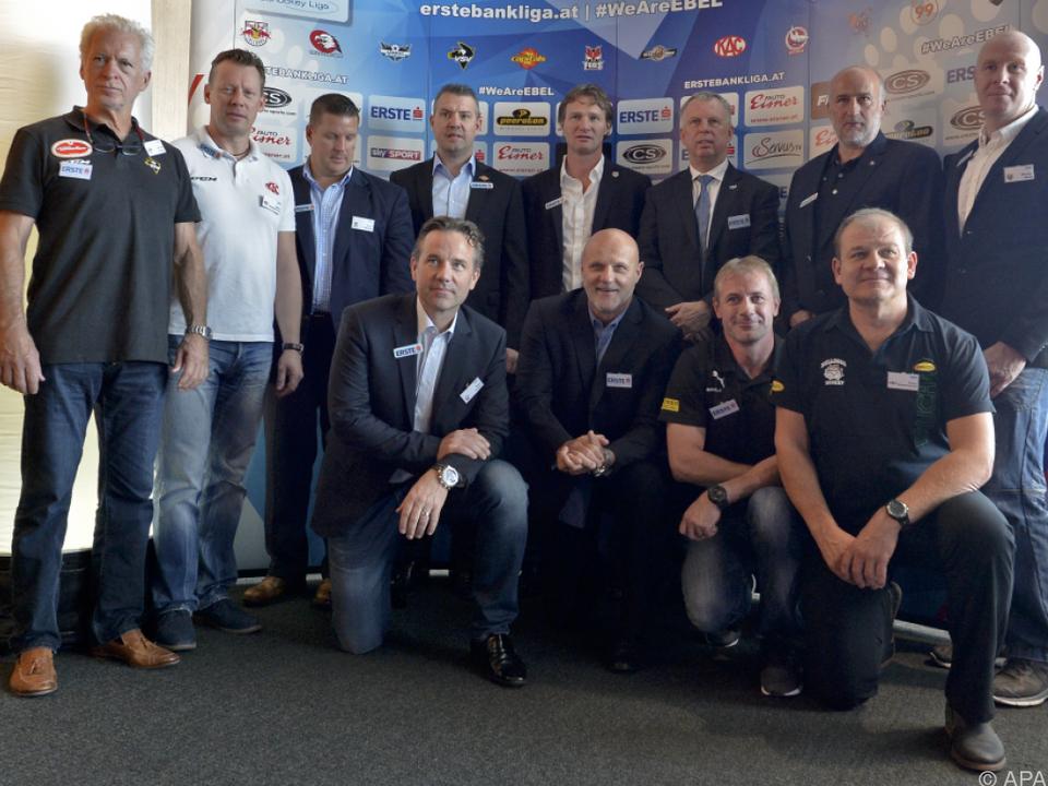 Die EBEL-Headcoaches freuen sich auf die neue Saison