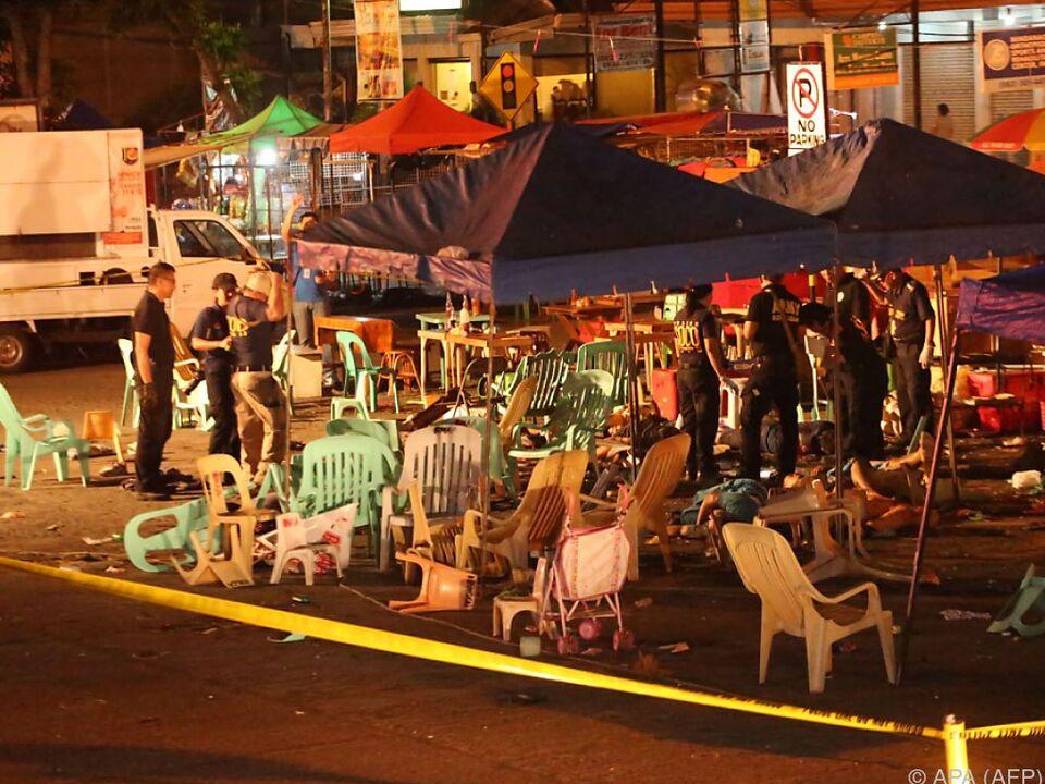 Die Explosion ereignete sich auf einem Markt