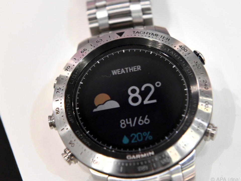 Garmin bietet mit seiner Smartwatch auch aktuelle Wettervorhersagen an