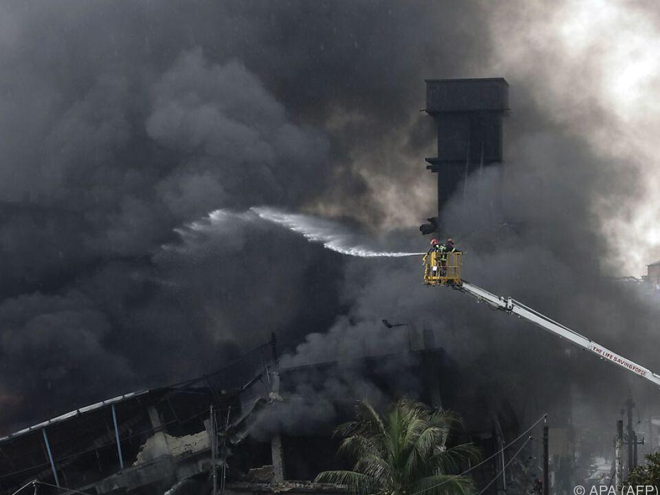 Explosion eines Kessels löste Großbrand aus