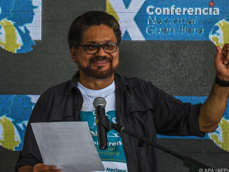 FARC-Vertreter Ivan Marquez verkündet die Einigung