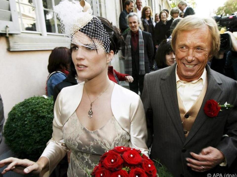 Gärtner und seine Frau Sarah am Tag ihrer Hochzeit