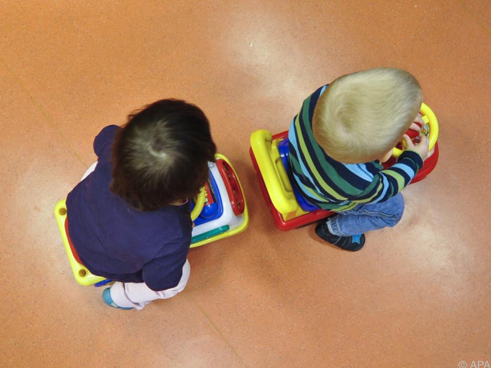 In Wien werden 45 Prozent der unter Dreijährigen betreut