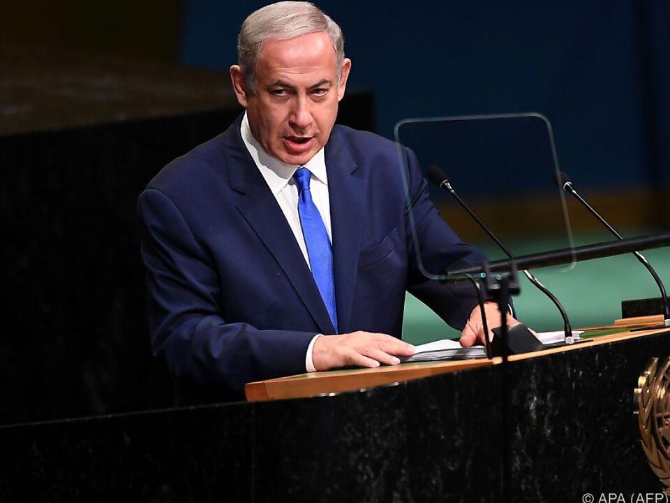 Israels Premier Netanyahu bei UNO-Vollversammlung in New York