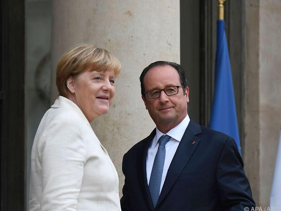Merkel und Hollande besprachen sich im Vorfeld des EU-Gipfels