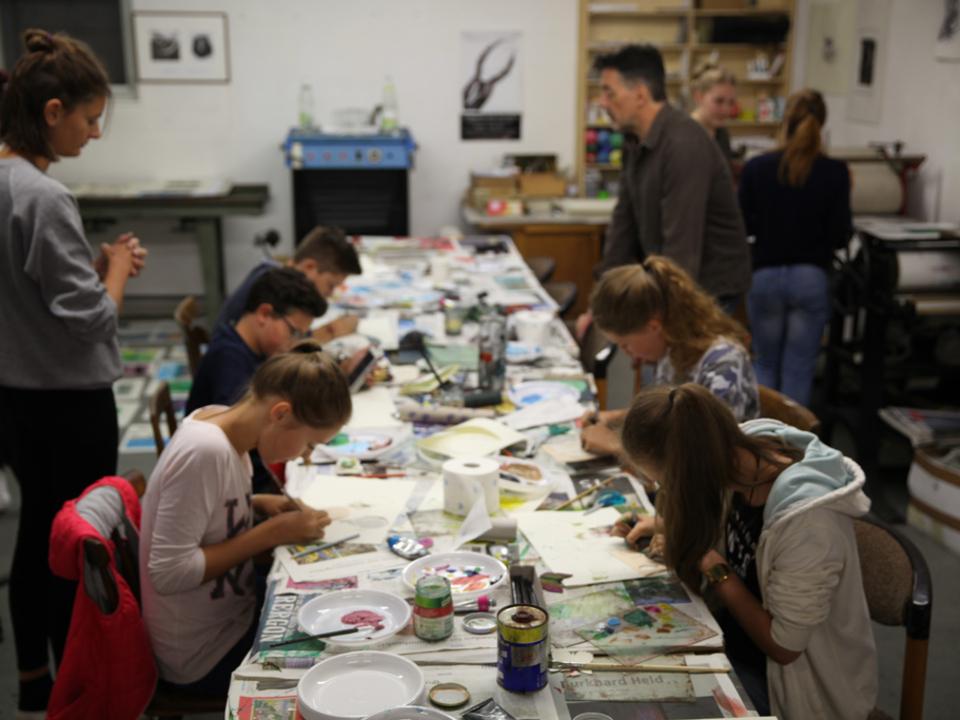 MuJuK-Monotypie-Workshop im Stadtmuseum Bruneck