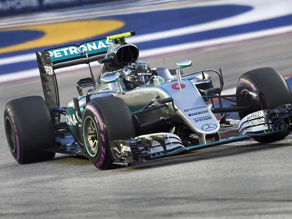 Nico Rosberg mit Bestzeit in Singapur